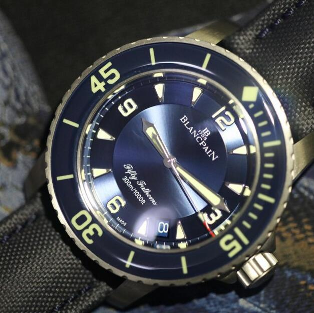 Analysis Of Blancpain Fifty Fathoms Blue Dail Replica Watch