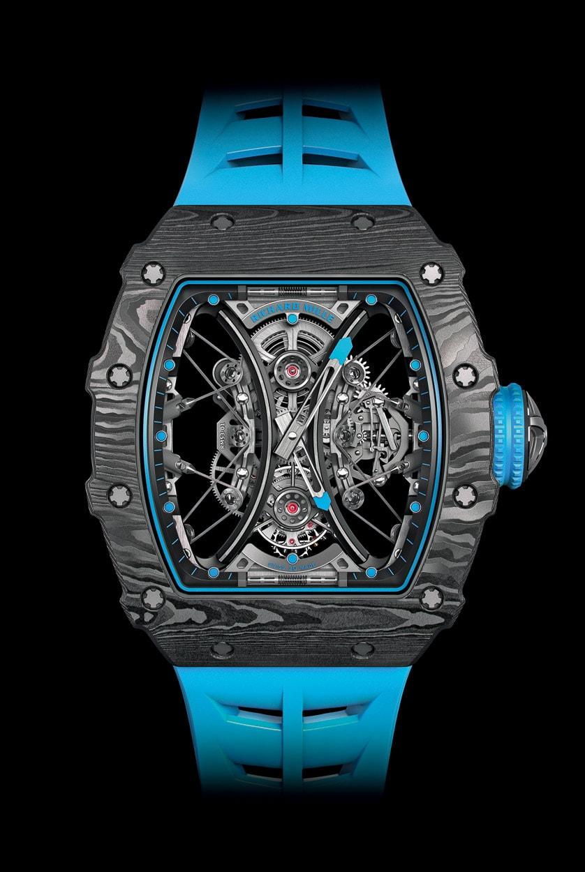 Replica Richard Mille True Tourbillon Mechanical Watch RM53-01 New Blue Version