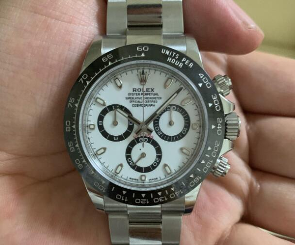 Rolex Daytona Swiss Replica Watch Black And White Dial